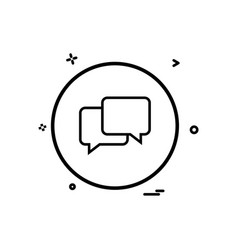 chat sms talk icon design vector image