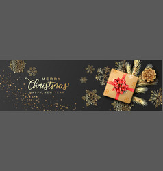 Christmas and new year banner vector