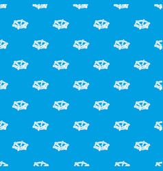 Circle tap gas pattern seamless blue vector