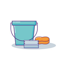 cleaning supplies design vector image