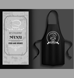 Clothing for cooking in kitchen near restaurant vector