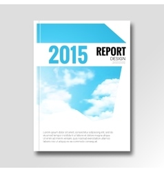 Cloud sky annual report cover brochure vector