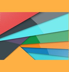 colored back pop art style bicolor background vector image