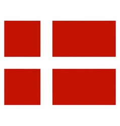 danish flag vector image
