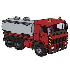 Dark red tank truck vector