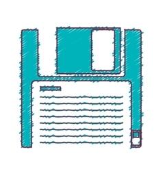 Data diskette icon vector