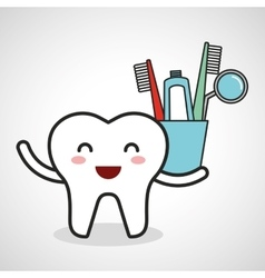 Dental healthcare equipment flat icons vector