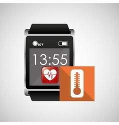 Digital smartwatch healthy thermometer vector