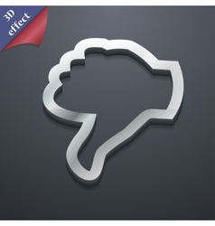 Dislike Thumb down icon symbol 3D style Trendy vector image