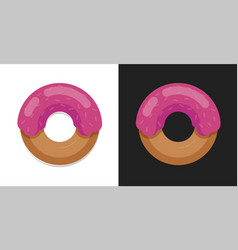 donut icon in flat cartoon style vector image