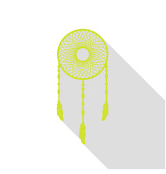 dream catcher sign pear icon with flat style vector image