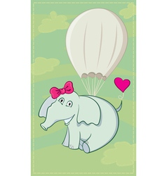 Elephant parachutist vector
