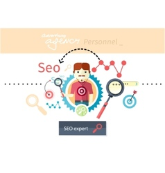 expert search engine optimization vector image