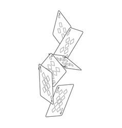 falling poker cards diamond casino vector image