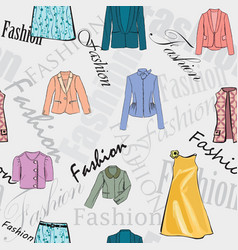 fashion cloth seamless pattern retail women dress vector image