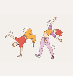 feeling positive and dancing concept vector image