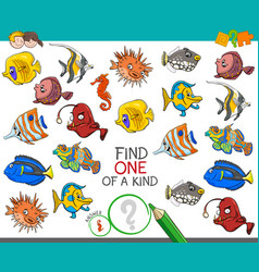 Find one a kind with rabbits animal characters vector