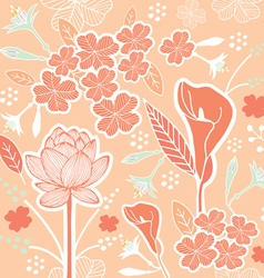 flower pattern set 1C vector image