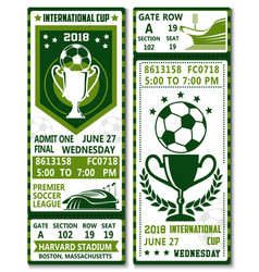 Football soccer league championship tickets vector