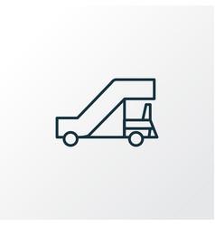 gangway icon line symbol premium quality isolated vector image