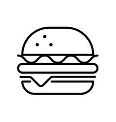hamburger thin line icon isolated on white sliced vector image
