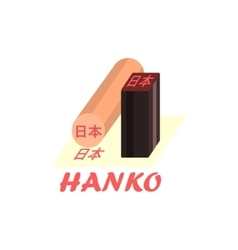 Hanko Cartoon Style Icon vector
