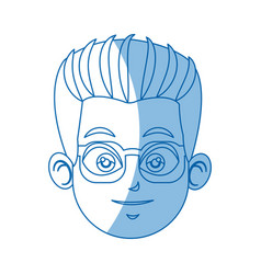Head face doctor wearing glasses image vector