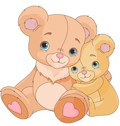 Hugging bears vector
