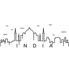 india outline icon can be used for web logo vector image