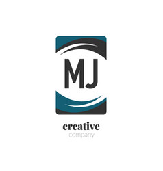 initial letter mj creative abstract logo template vector image