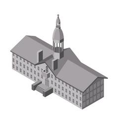 isometric church icon vector image