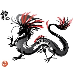 Japanese Dragon drawing vector