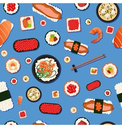 Japanese Food Seamless Pattern Sushi vector