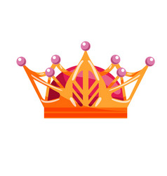 king or queen crown isolated on white background vector image