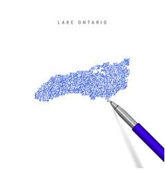 Lake ontario one great lakes sketch vector