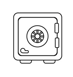 line strongbox close to security special thing vector image