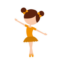 little girl danced ballet with tutu dress and vector image