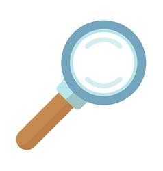 Magnifier closeup poster vector