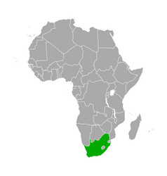 map south africa in africa vector image
