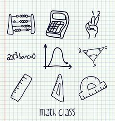 Math class design vector