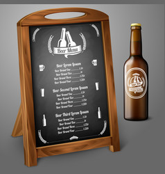 Menu template on chalkboard - for beer and alcohol vector