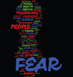 Mind killer the psychology of fear text vector
