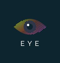 modern colored logo eye vector image