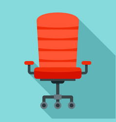modern desk chair icon flat style vector image