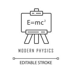Modern physics linear icon theory relativity vector