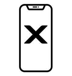 modern smartphone linear vector image