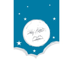 Moon Face vector image