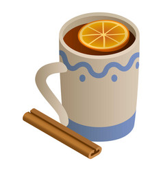 Mug mulled wine icon isometric style vector