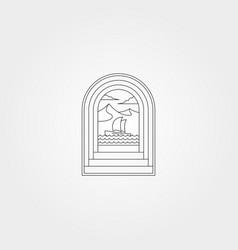 Ocean door creative logo symbol design nature sea vector