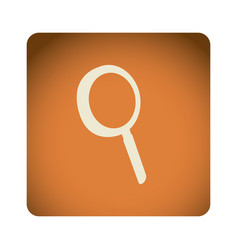 orange emblem magnifying glass icon vector image